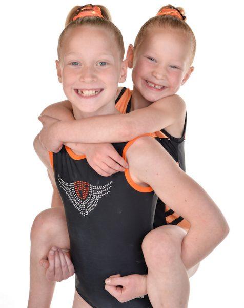 two girl gymnastics