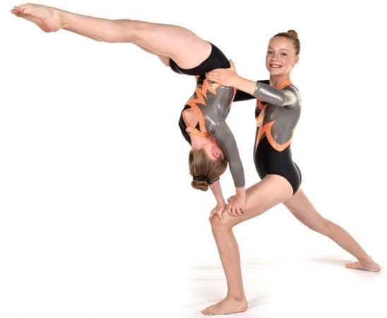 Handstand on Lunge Acro womens pair